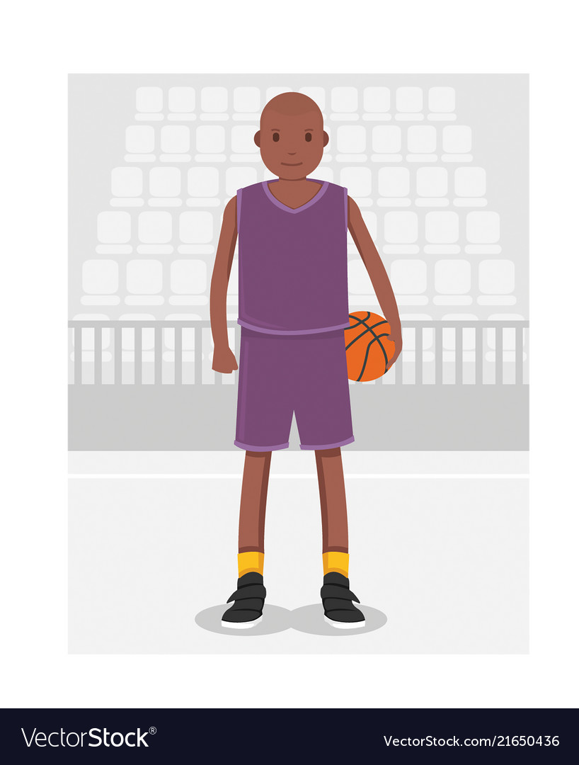 Young american african basketball player in