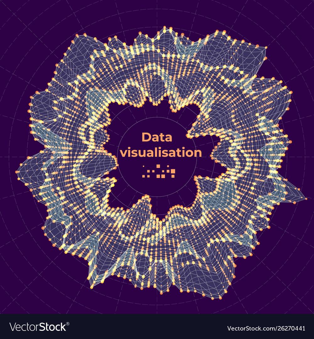 Complex data visualization concept