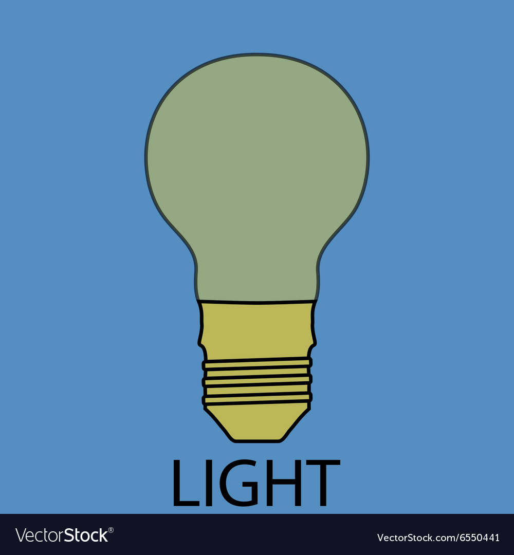 Light supply icon flat design concept