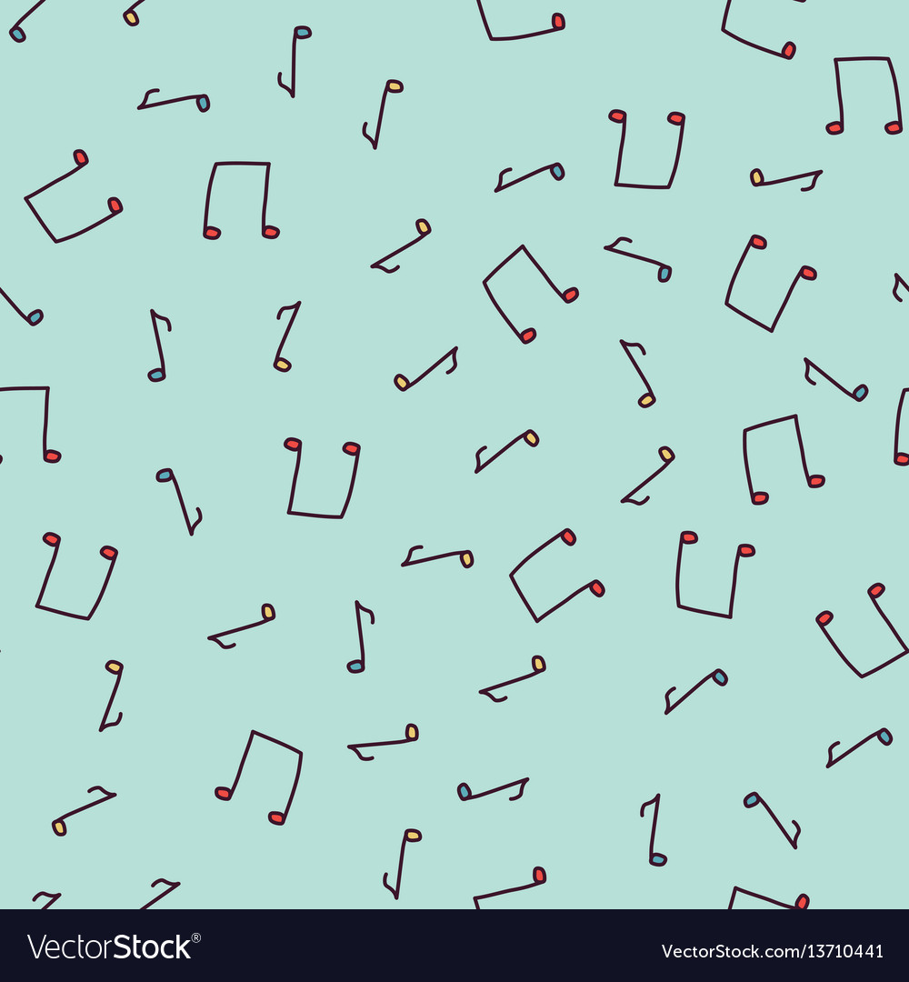 Seamless sketch note pattern vector image