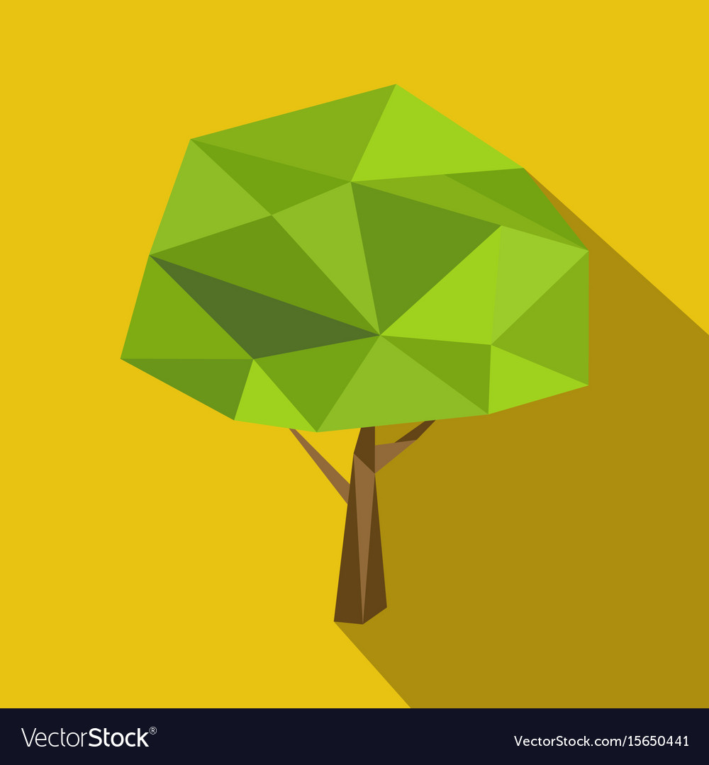 Set polygonal flat trees with different crowns and