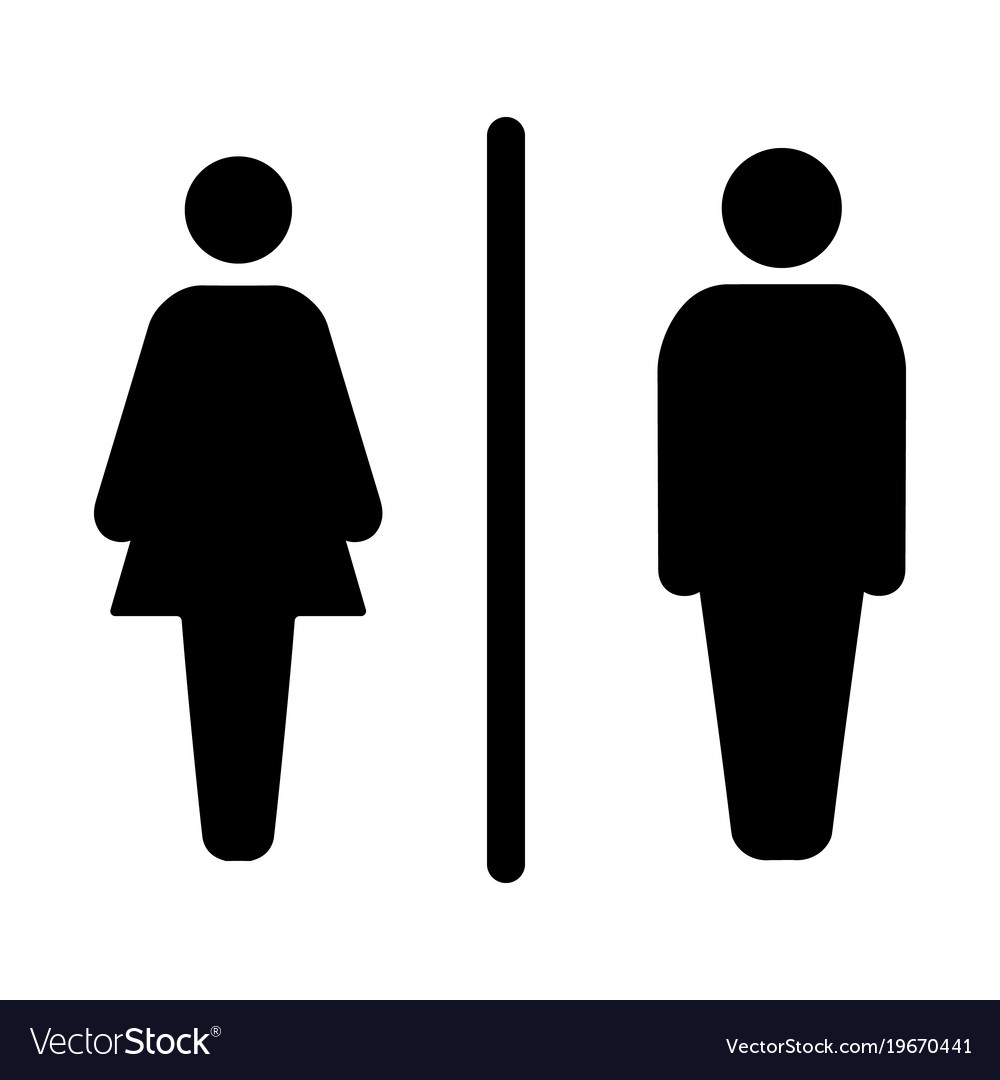 Sign Male And Female Toilet Royalty Free Vector Image