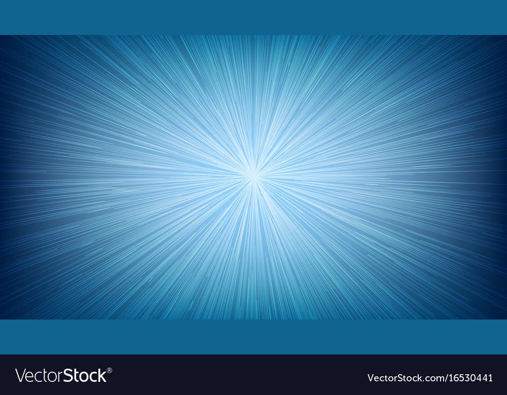 White light speed line burst ray on blue