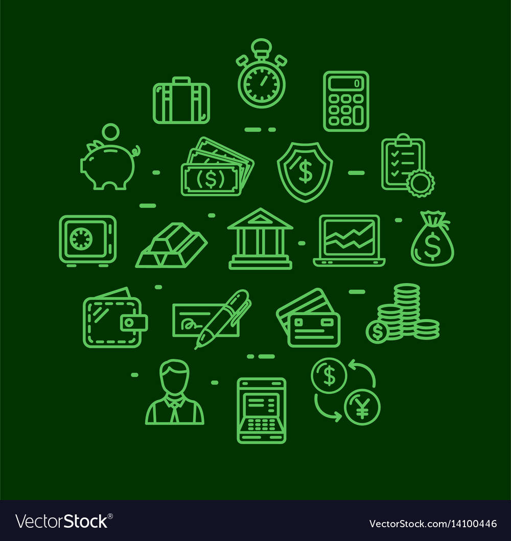 Banking and accounting icon round design template vector image
