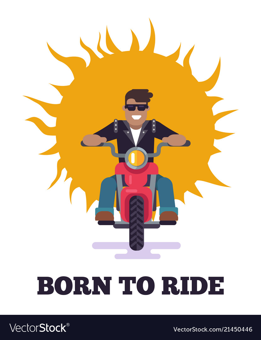 Born to ride colorful poster