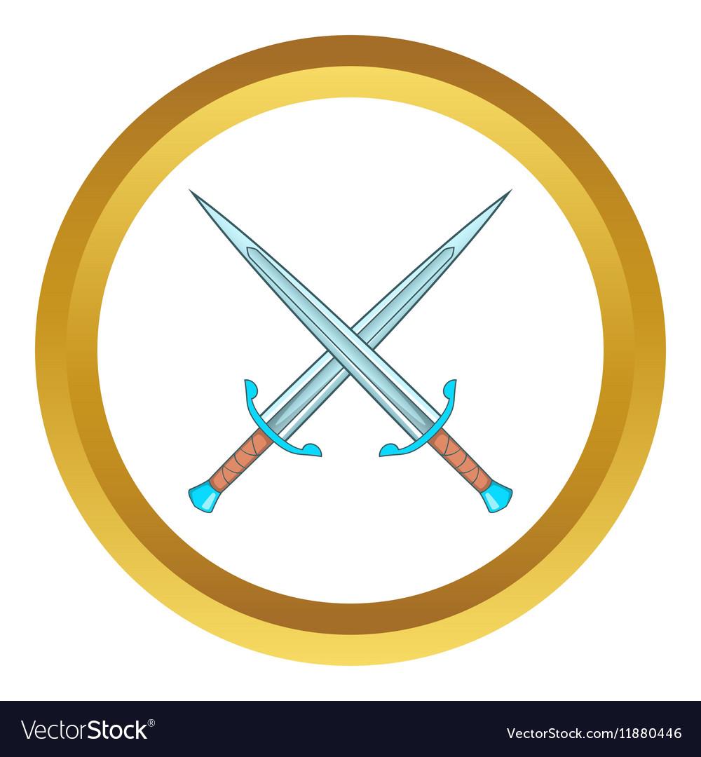 Crossed swords icon vector image