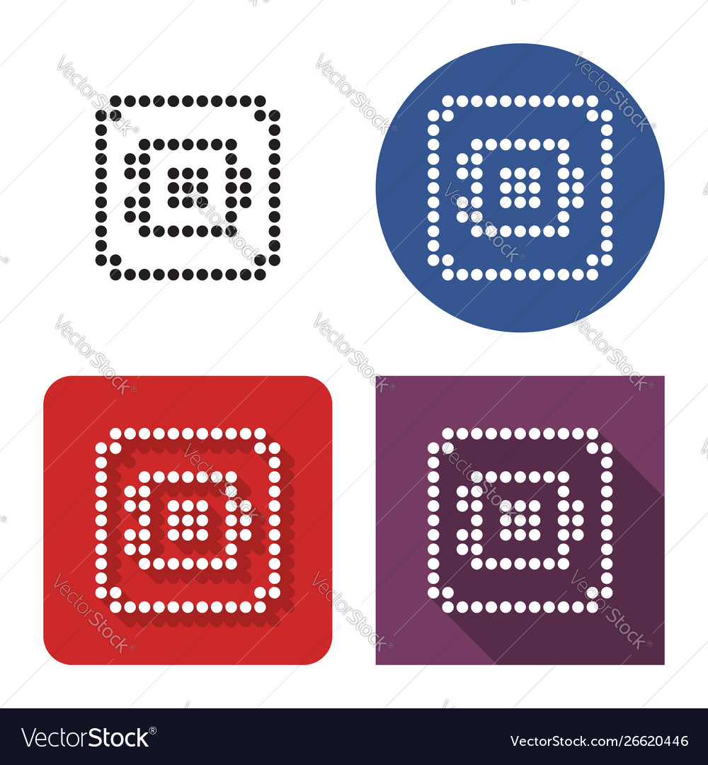Dotted icon safe in four variants with short