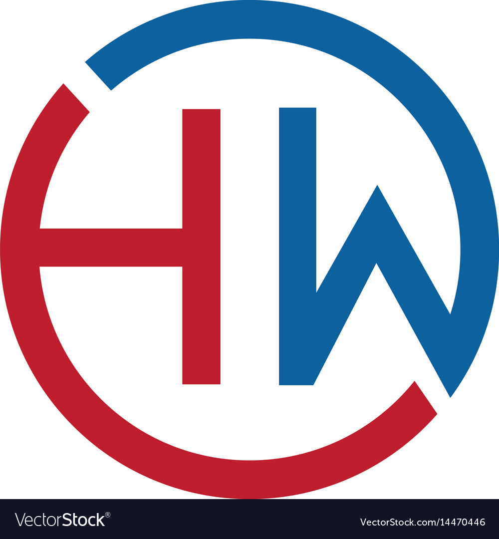 Letter hw logo design