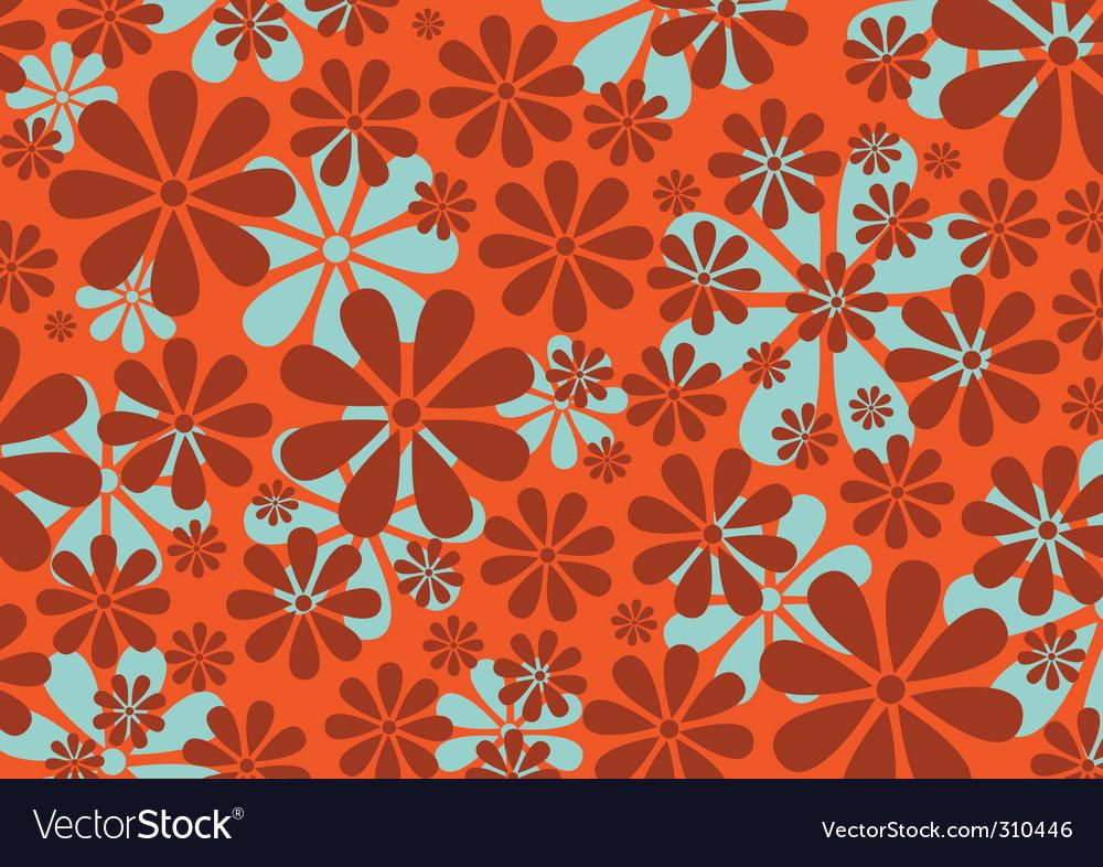 Retro daisy pattern