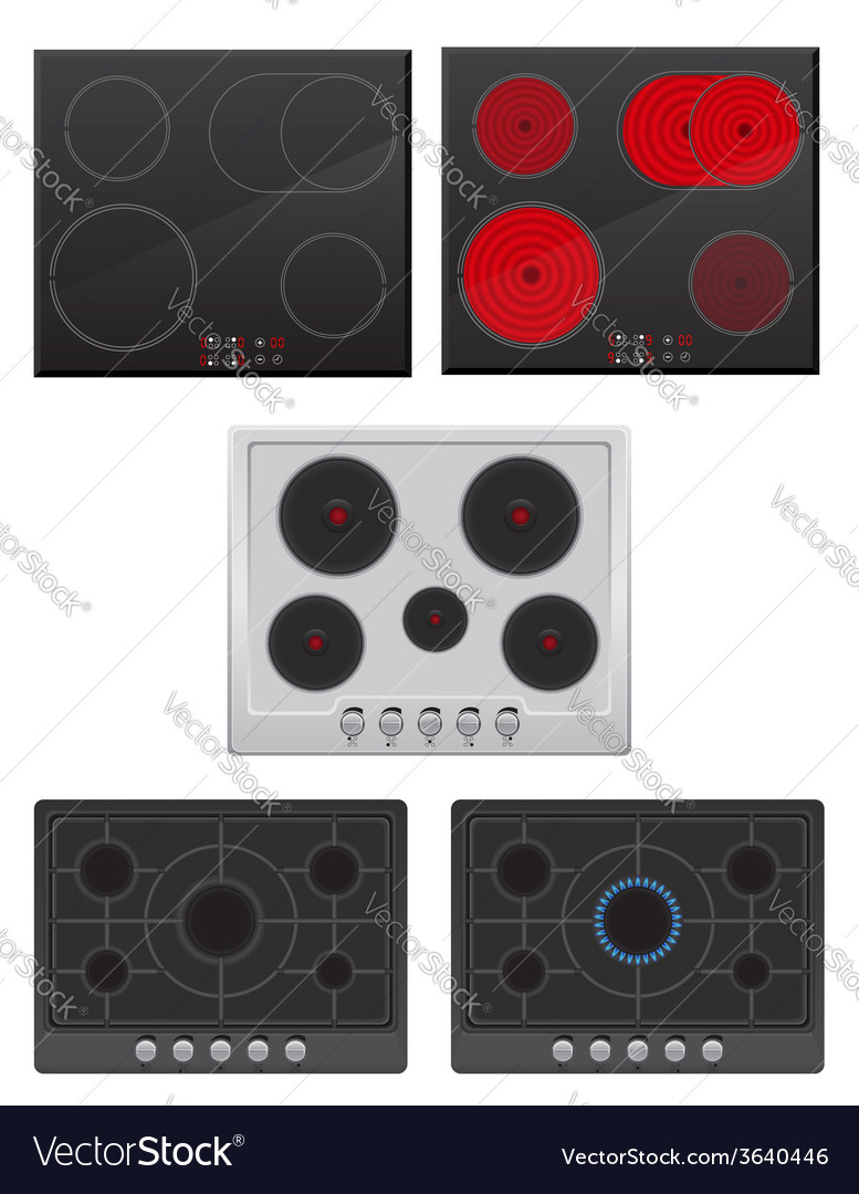 Set surface for electric and gas stove
