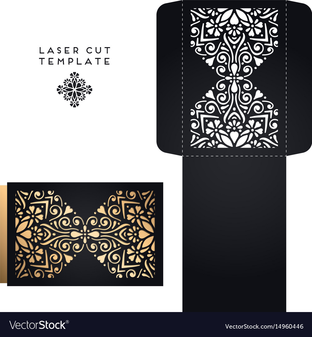 Wedding card laser cut template