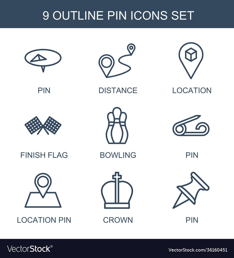 9 pin icons