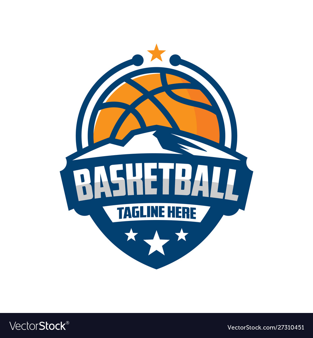 Basketball emblem logo design template