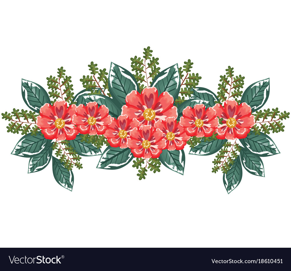 Beautiful decoration floral icon