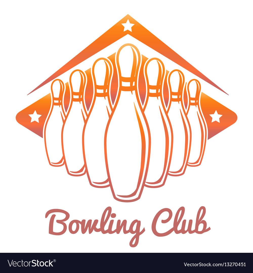 Bright bowling club banner