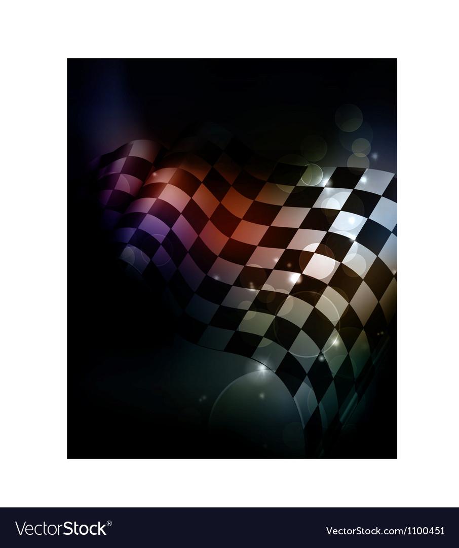 Dark Checkered Background vector image