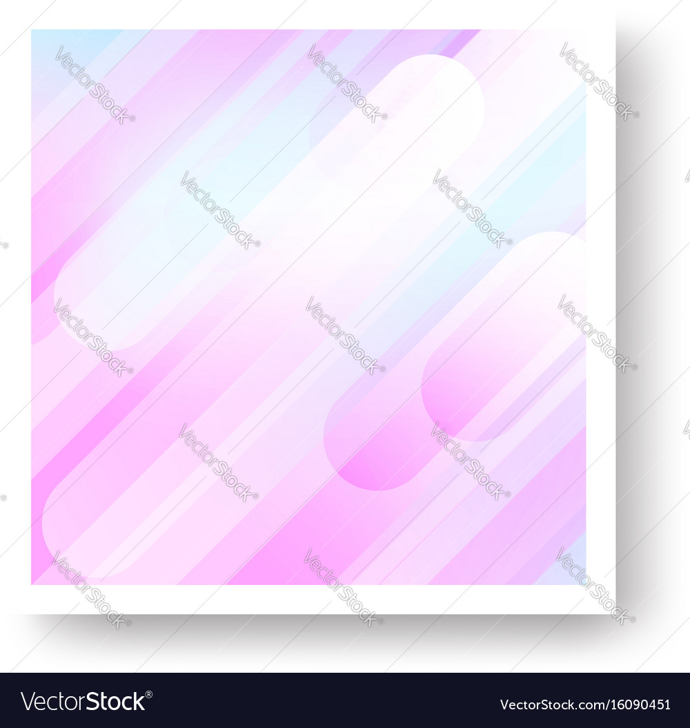 Expressive colorful cover with geometric vector image