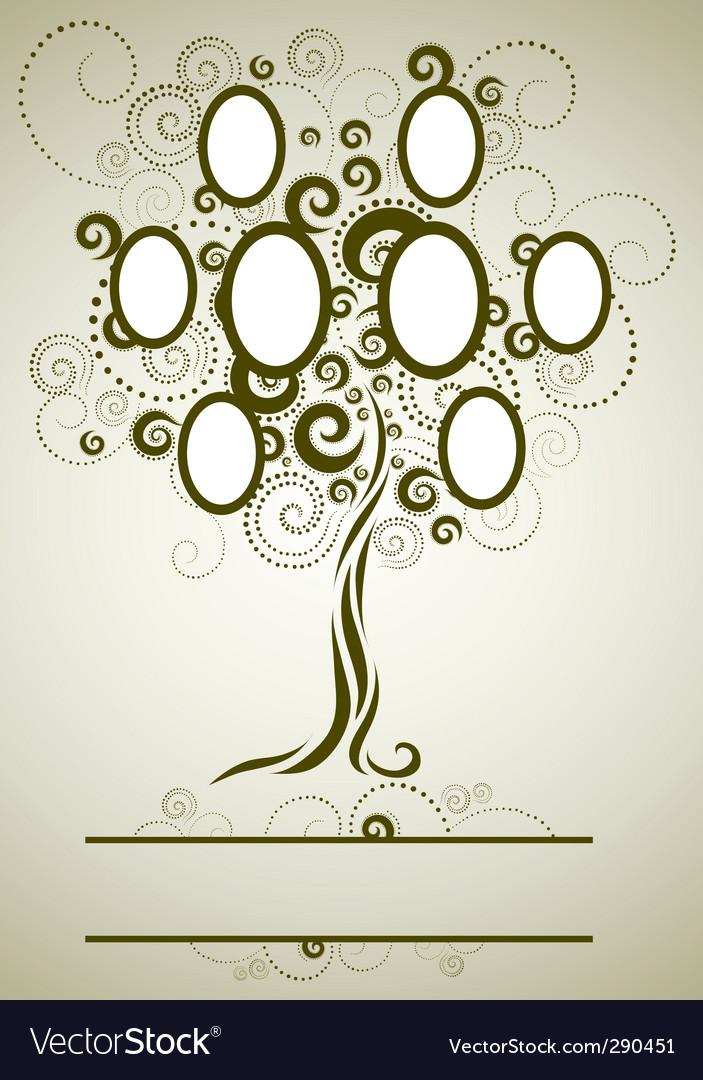 family tree royalty free vector image vectorstock rh vectorstock com family tree vector graphic family tree vector art free download