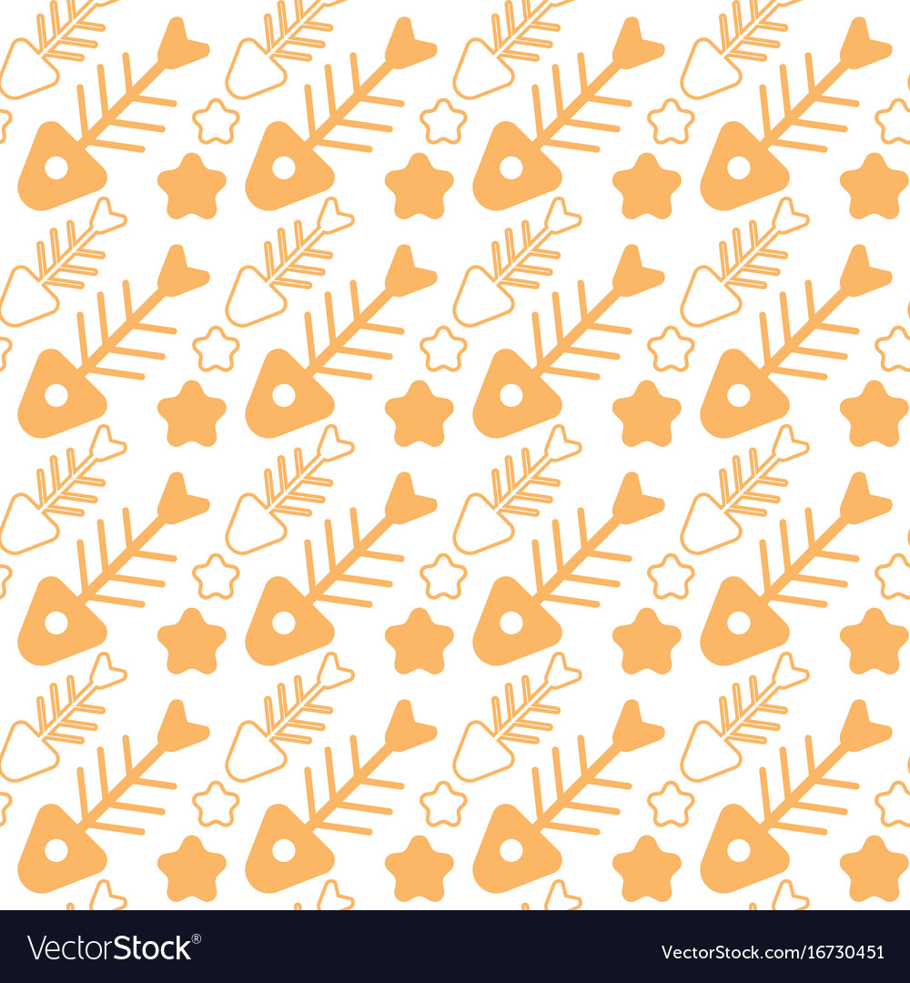 Fish bone seamless pattern abstract ornament