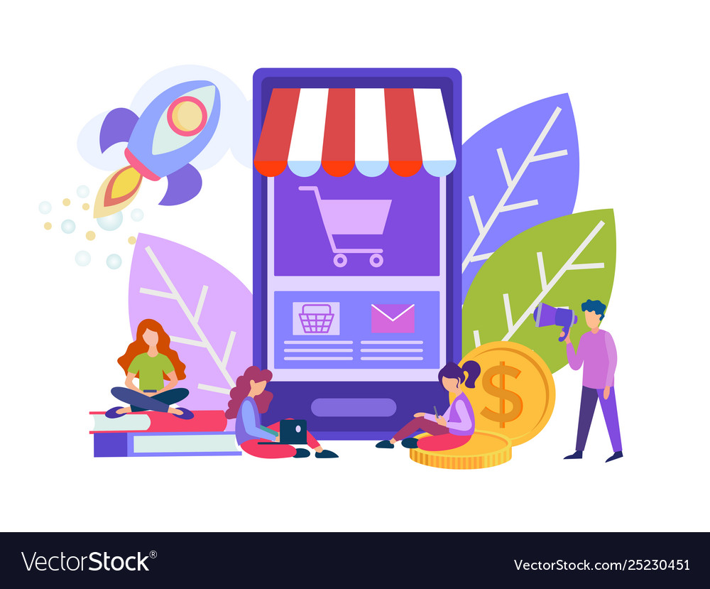 Little people make purchases with help of