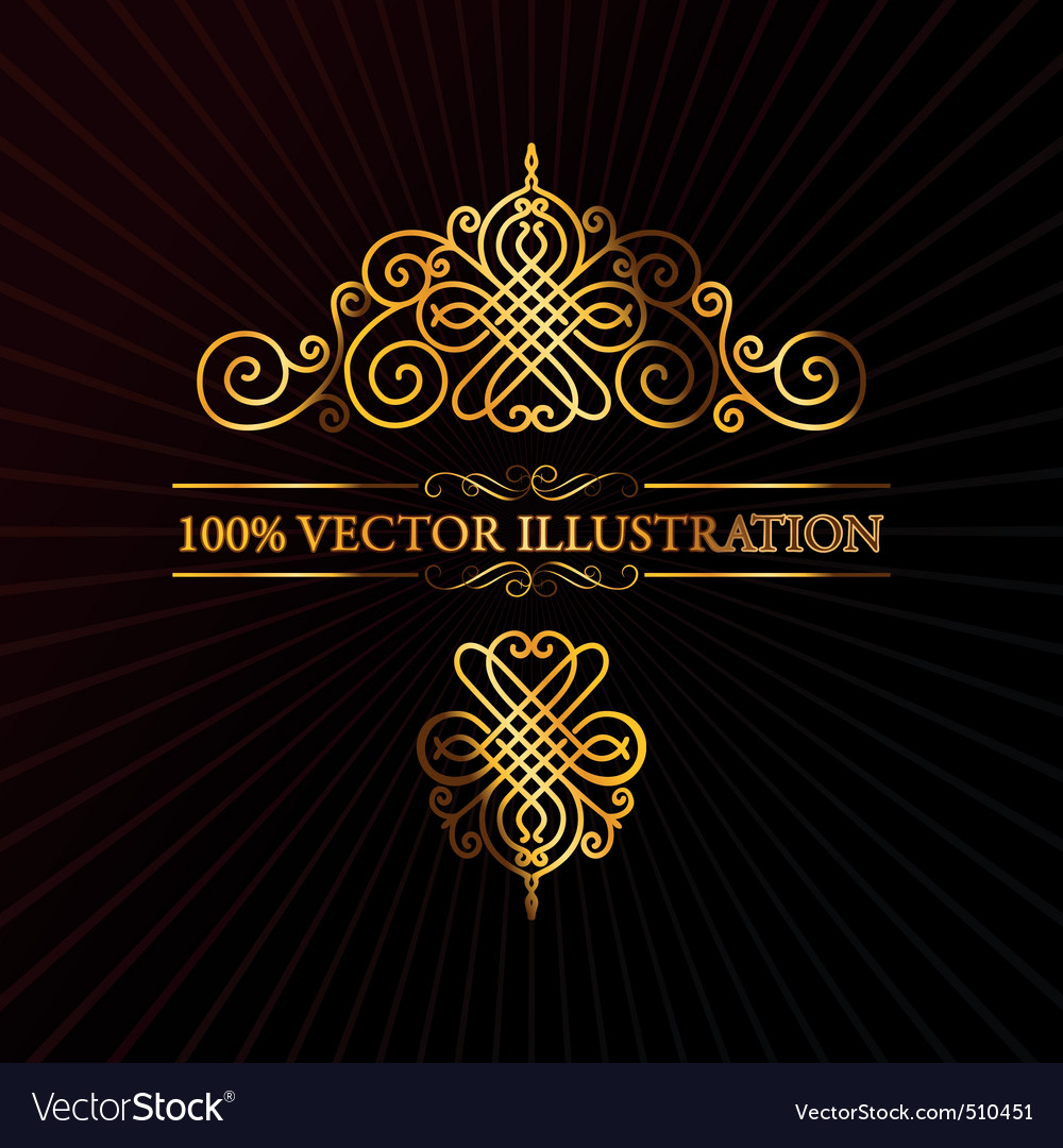 Retro ornament calligraphic vector elements