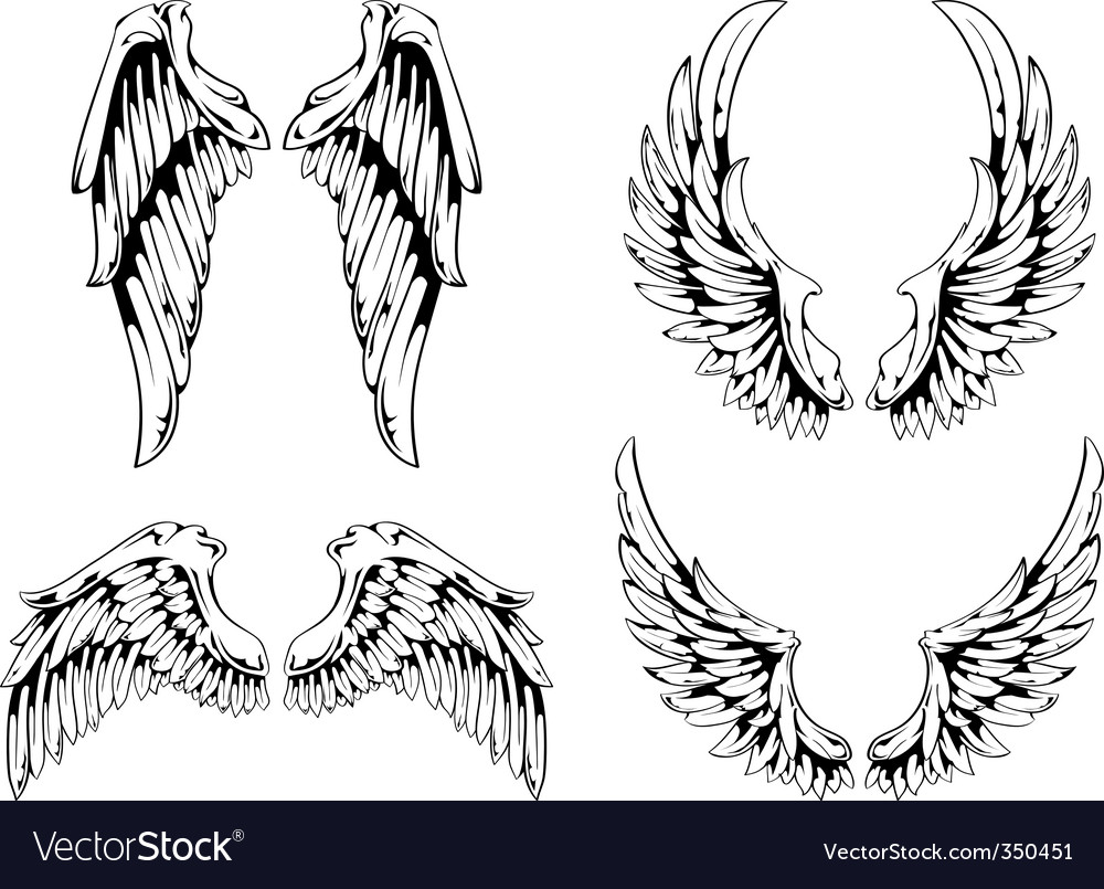 Wings for your vintage design