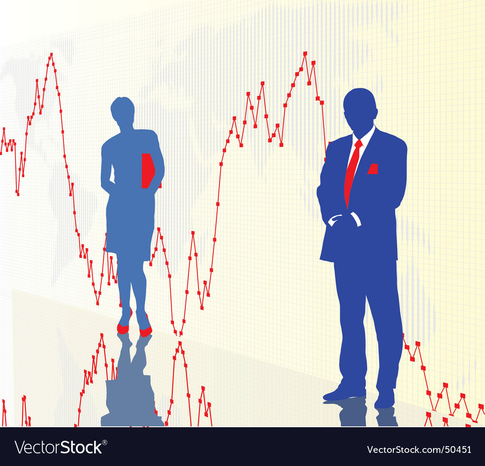 World stock exchange vector image
