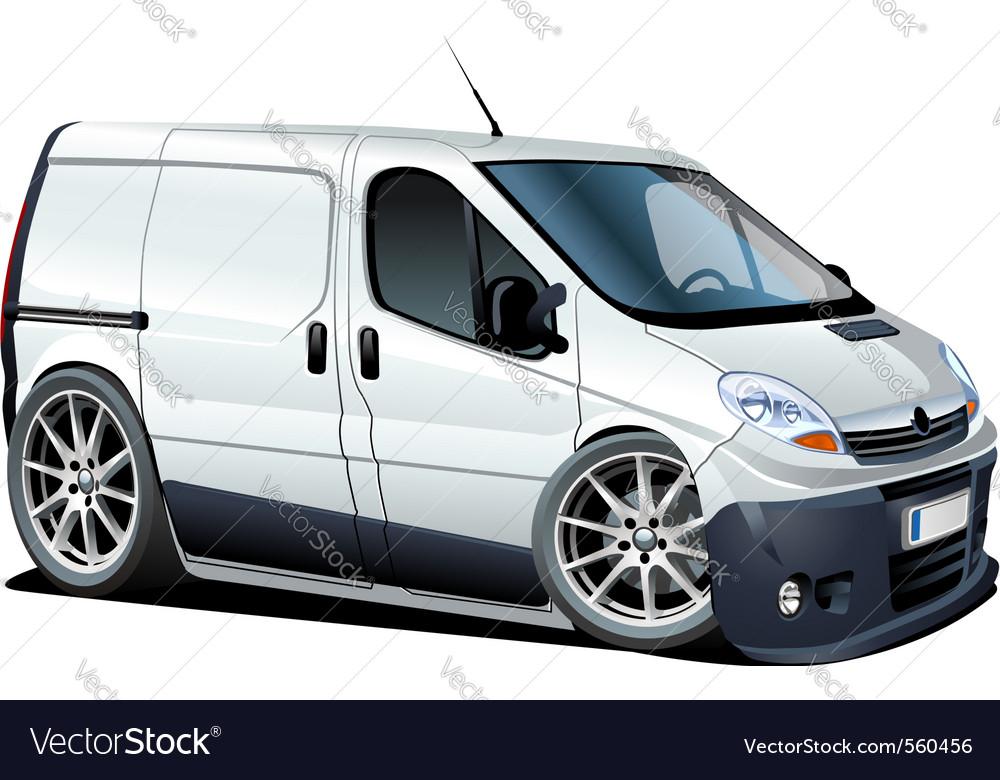 Cartoon cargo van vector image