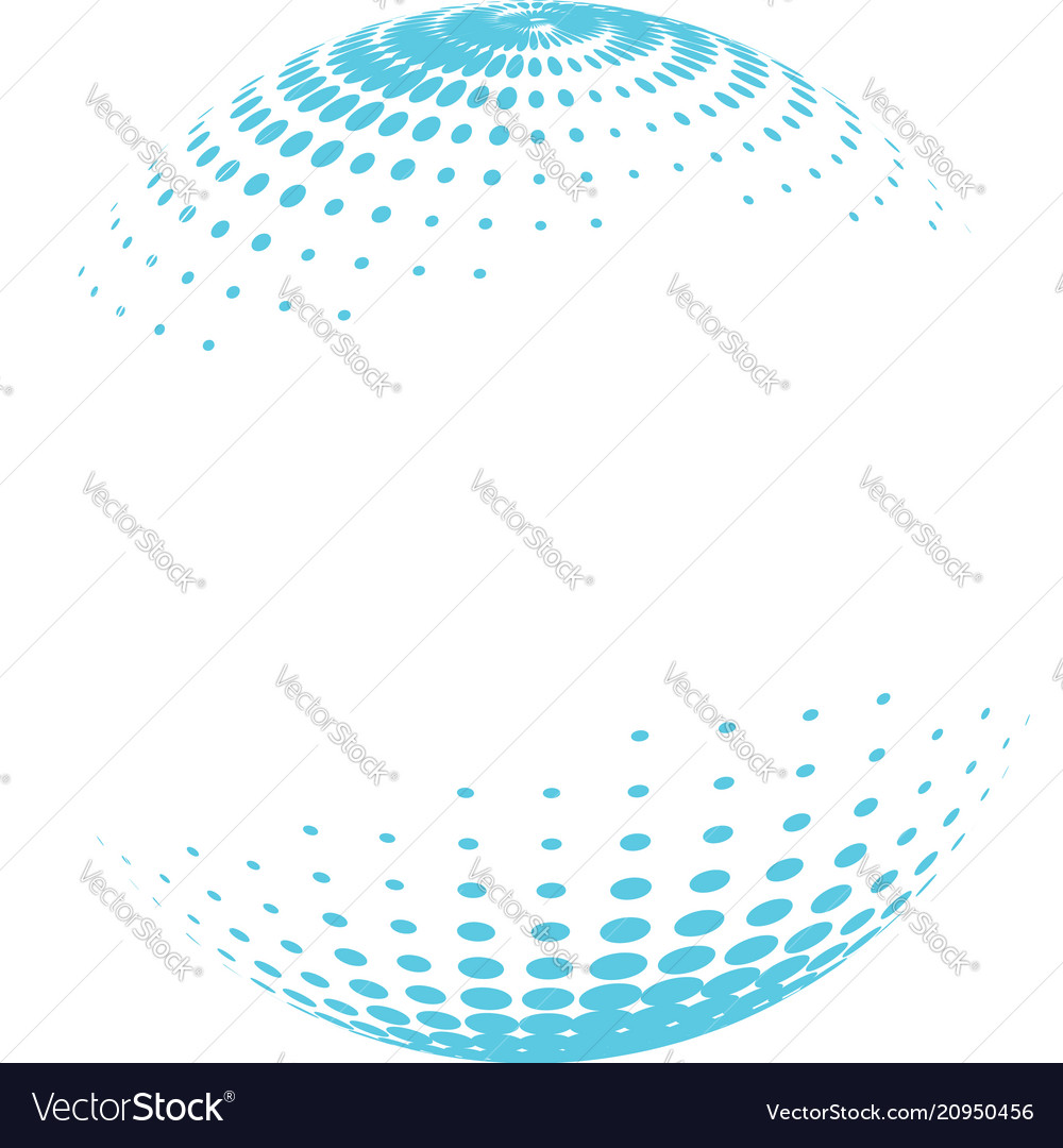 Colorful globe with halftone