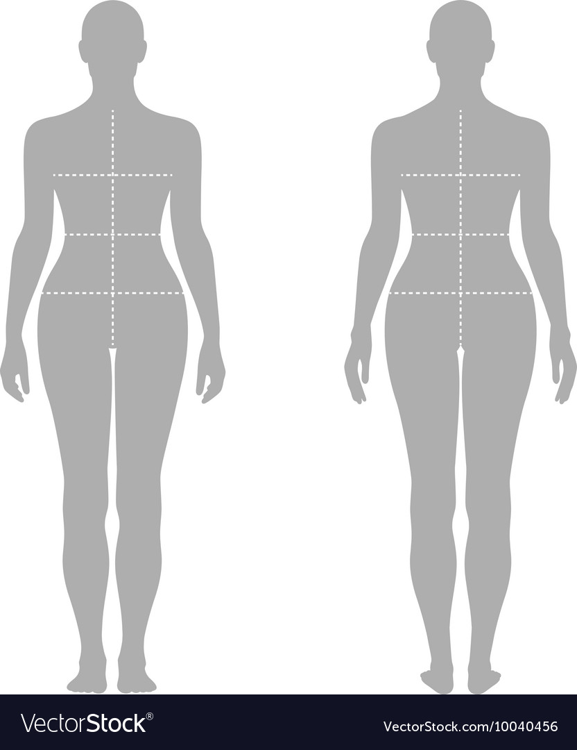 Fashion Woman Solid Template Figure Royalty Free Vector