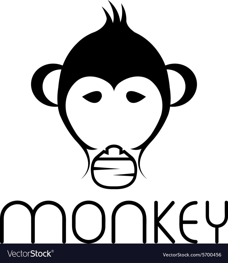 gorilla childish vector images 38