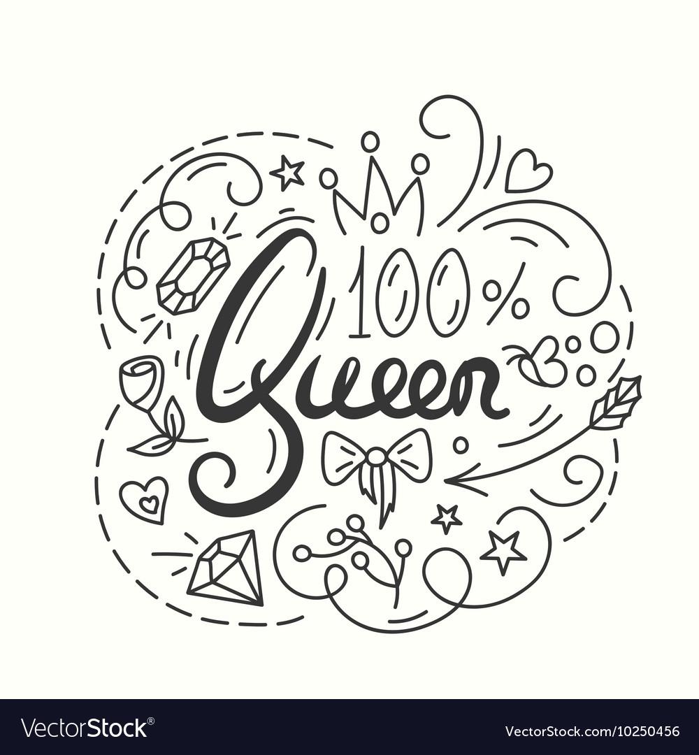 Queen & Calligraphy Vector Images (73)