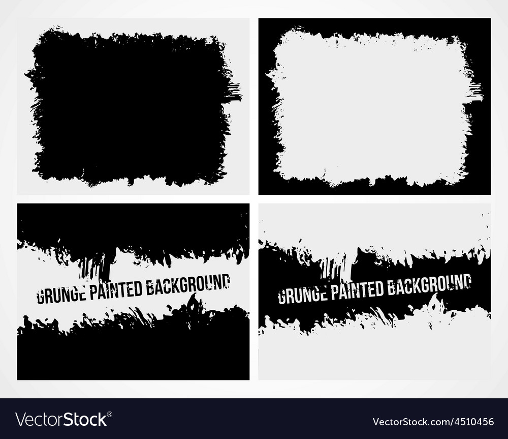 Set of abstract grunge frame texture background