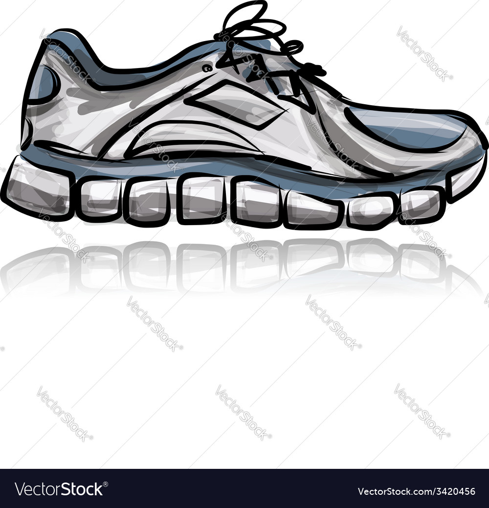 Sport sneakers sketch for your design