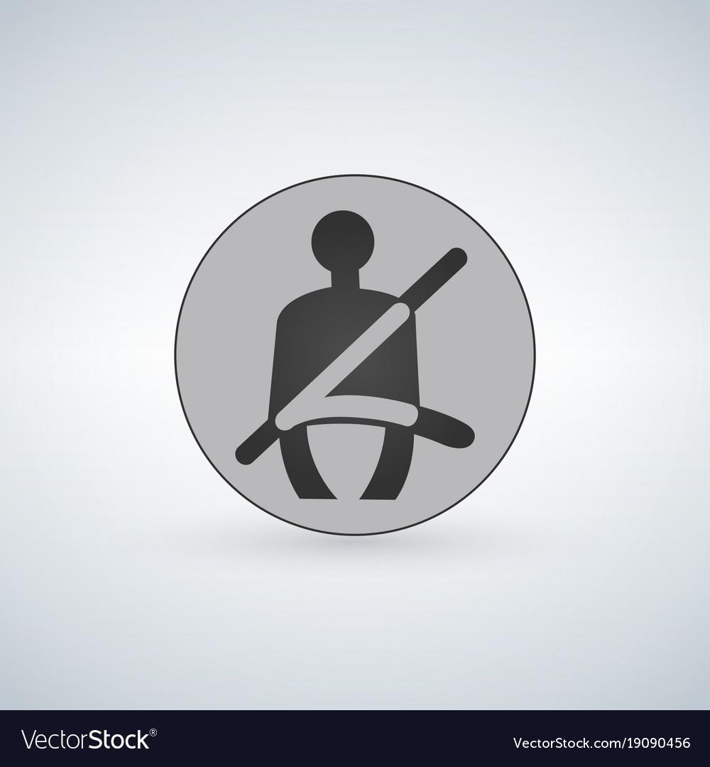 The seat belt warning icon safety belt car symbol