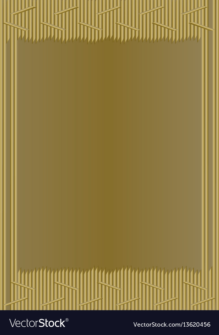 Unusual gold frame in modern design composed of vector image