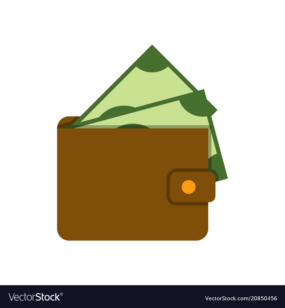 Wallet with banknote