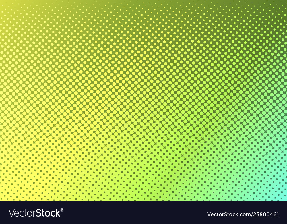 Bright green with yellow dotted halftone faded