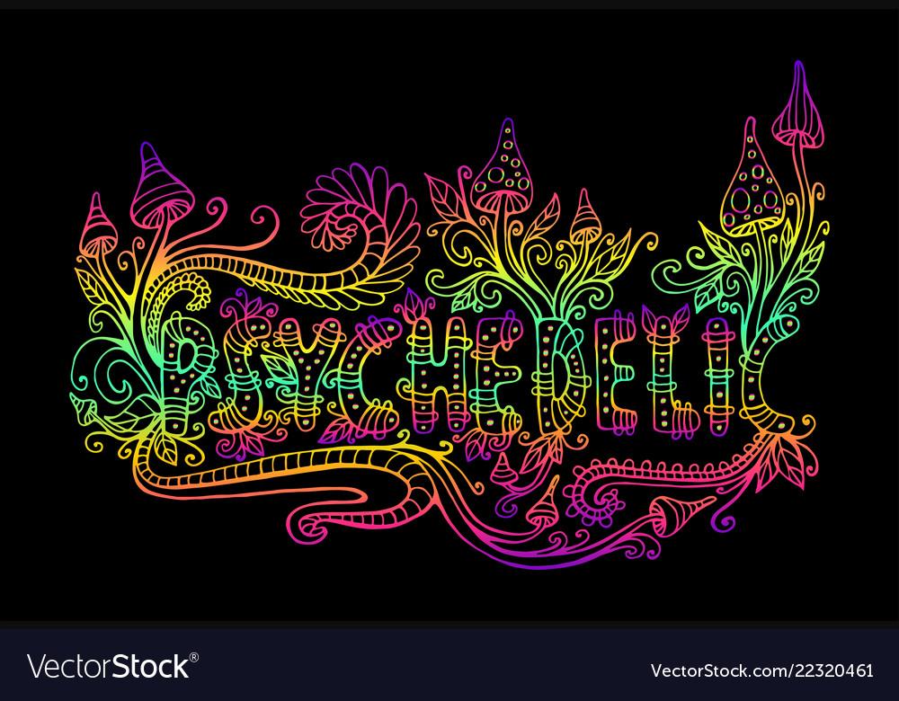 Bright hallucinogenic decorative fantastic