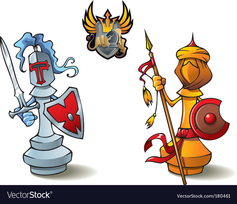 Chess set bishops vector