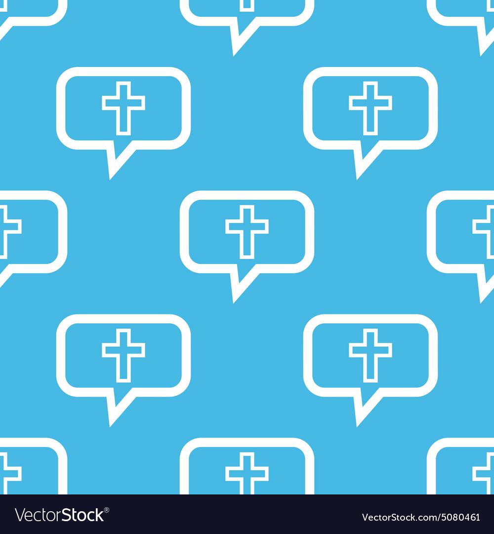 Christian cross message pattern vector image