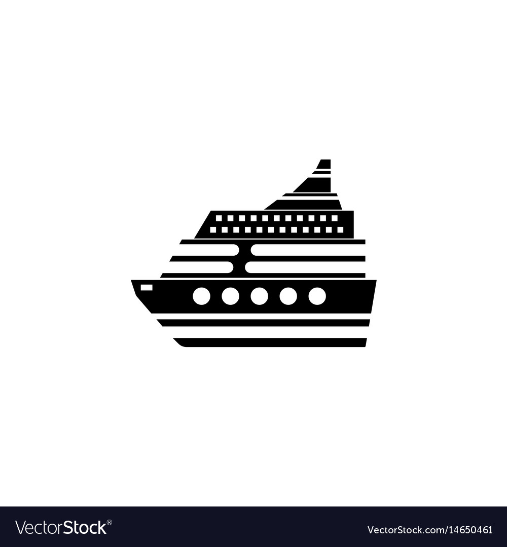 Cruise solid icon travel tourism vector image