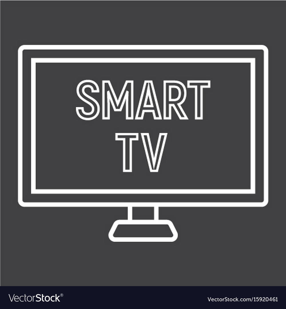 Smart tv line icon household and appliance