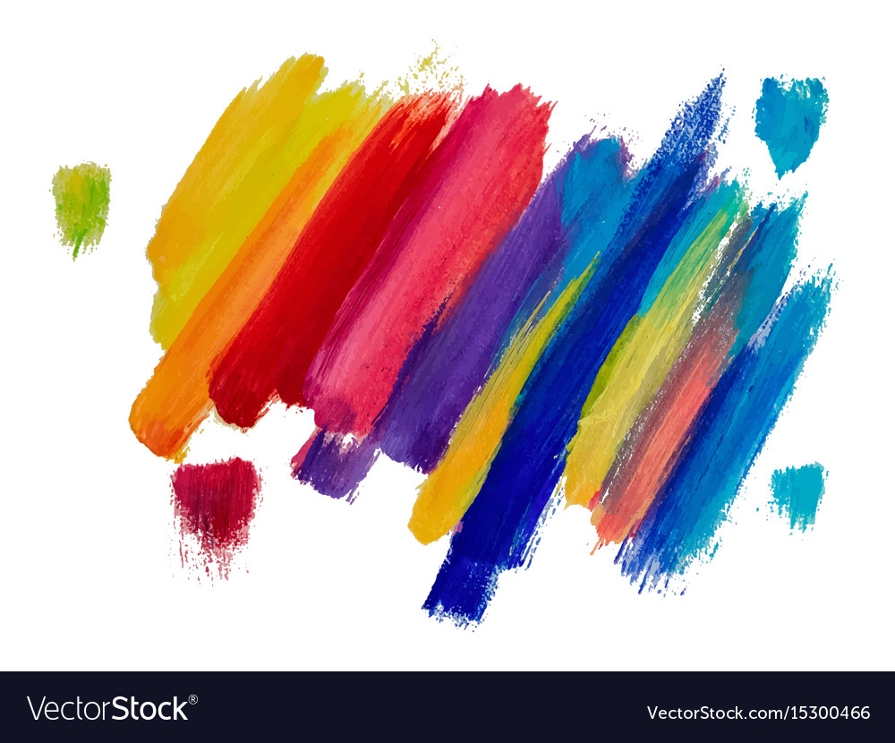 Banner templates with oil and watercolor painting Vector Image