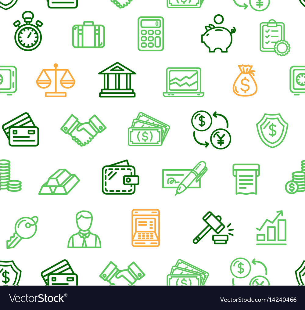 Finance pattern background vector image