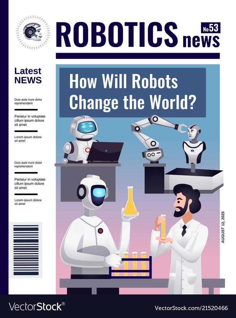 Robotics magazine cover design