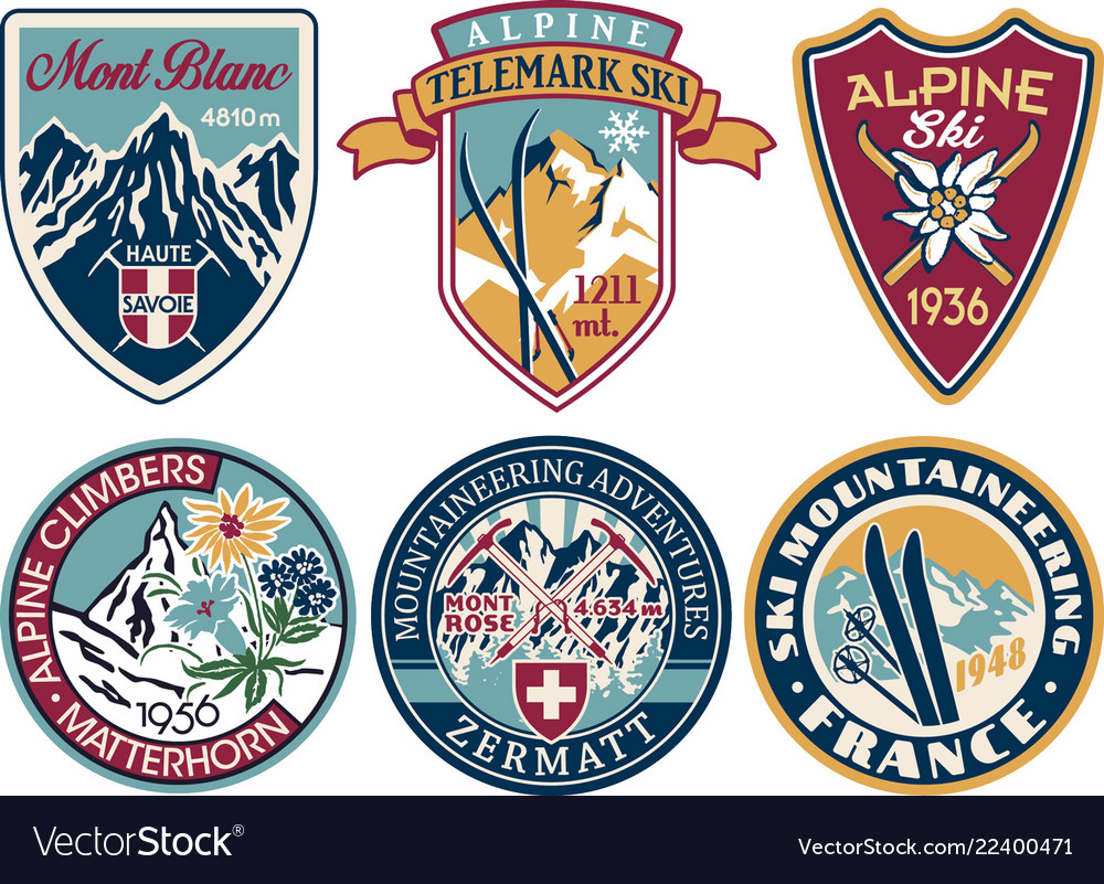 Alpine skiing and mountaineering patches