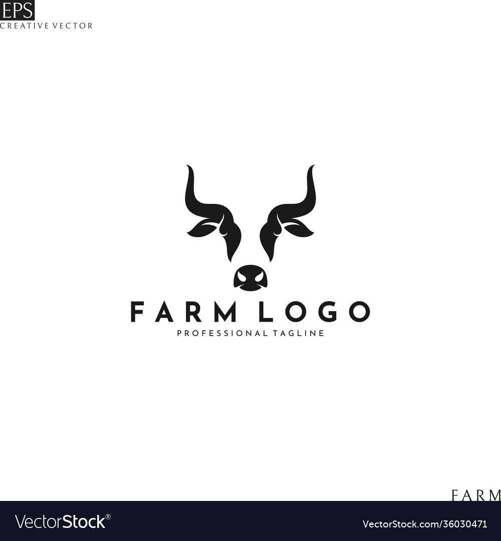 Cow head logo template