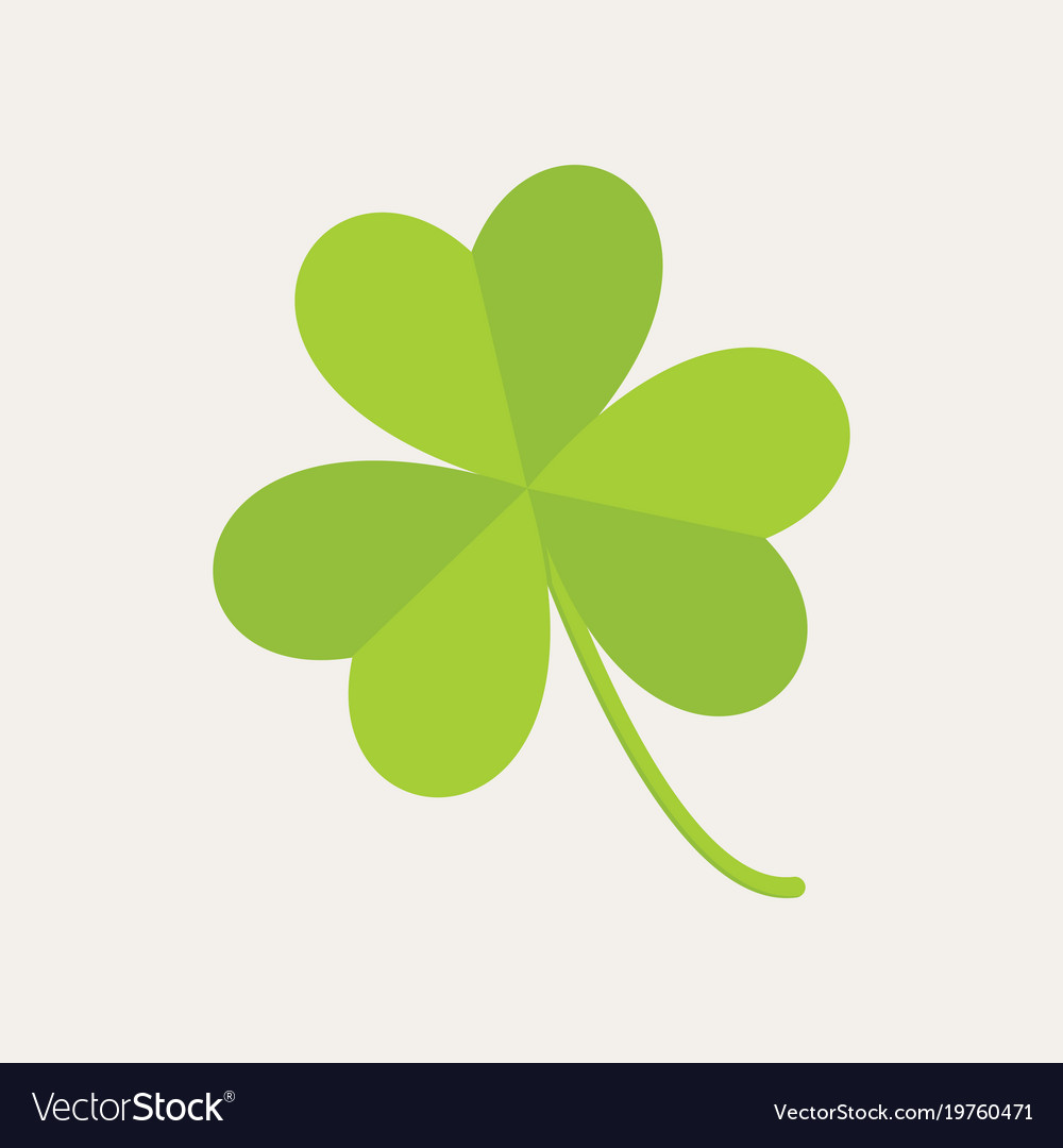 Cute Three Leaf Clover Graphic Royalty Free Vector Image
