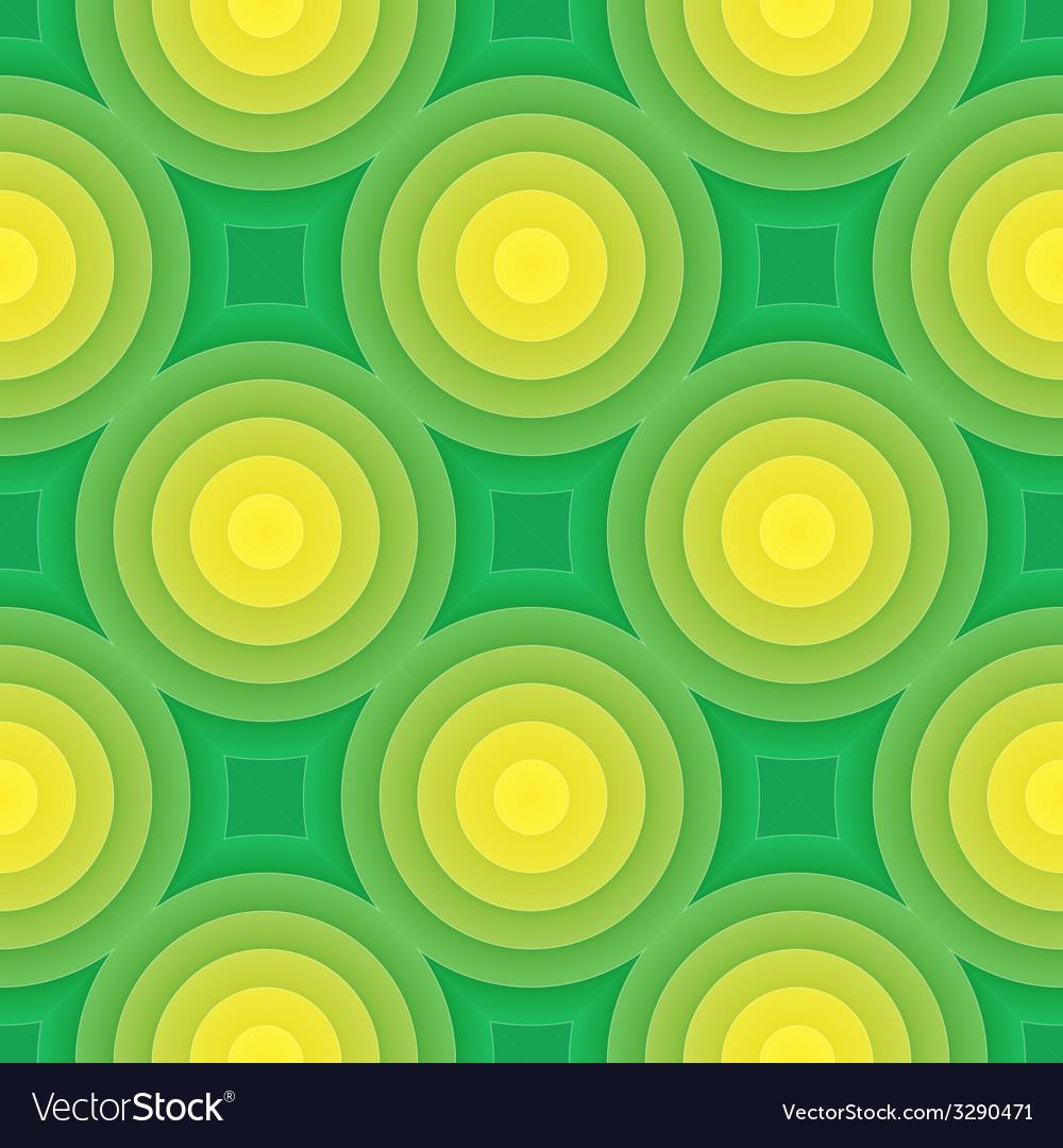 Green circle seamless pattern